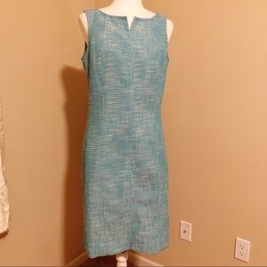 Talbots sleeveless split neck sheath dress. Size S